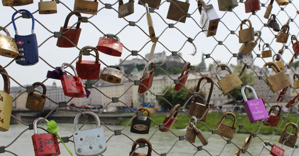 Loved locked on Makartsteg Bridge