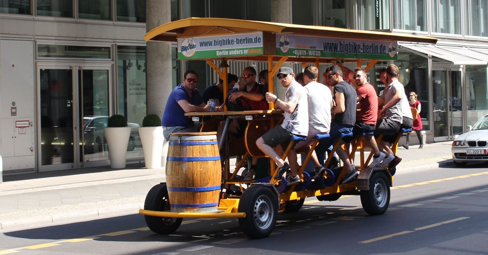One serious machine for pedaling and drinking.