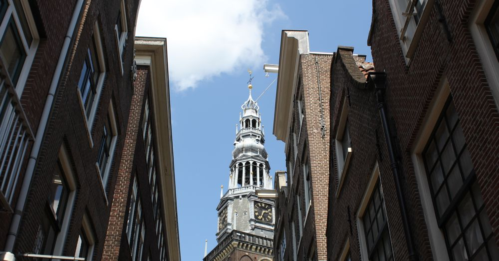Old Church in Amsterdam's Red Light District