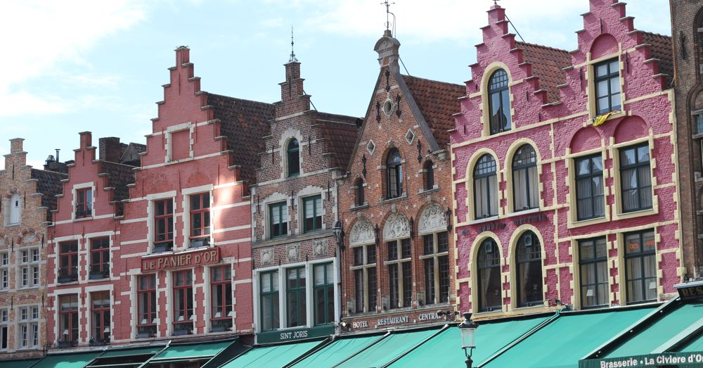 Bruges buildings on Markt