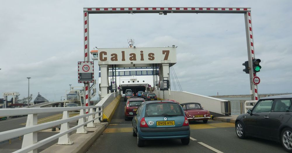 Onto the ferry.