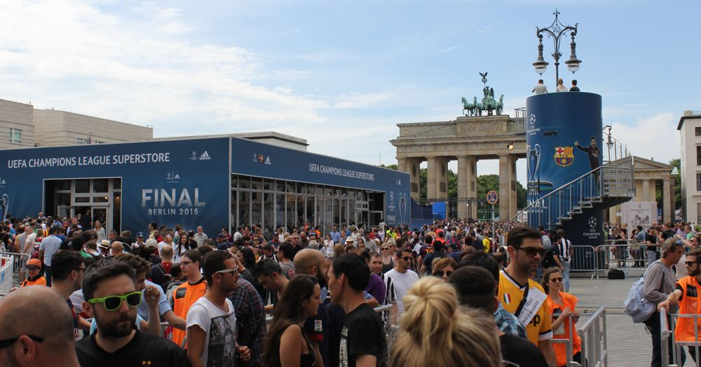 Pariser Platz Before the UEFA Championship