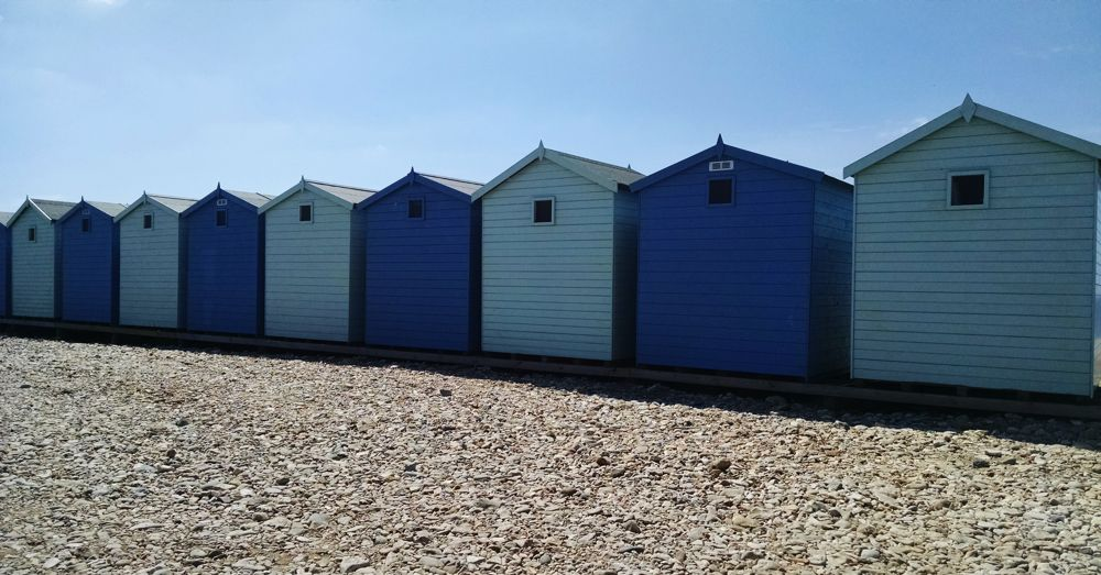 Cabins along the beach.