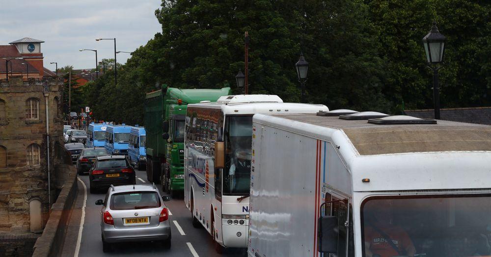 Traffic in Stratford.