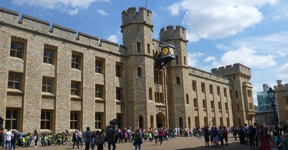 The Waterloo Barracks—this way for the Crown Jewels