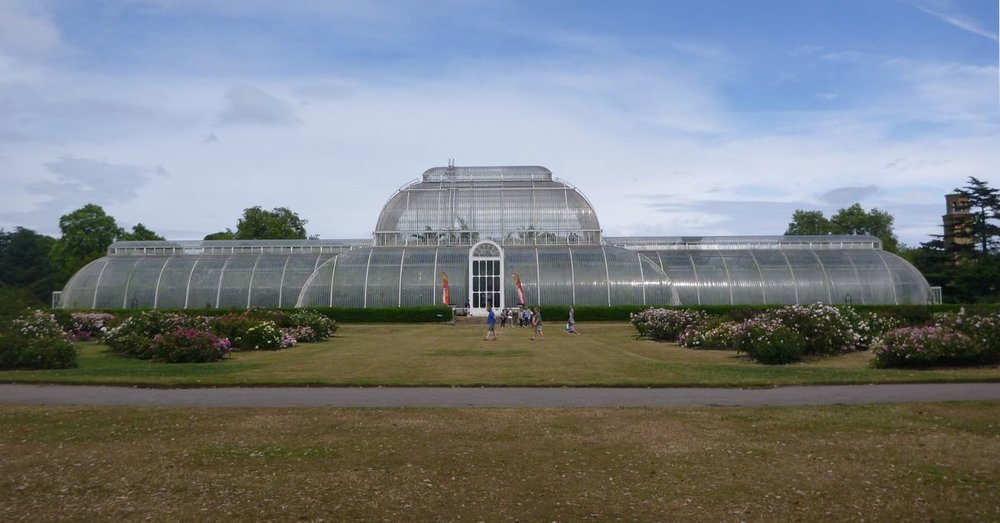 The Palm House is a giant, tropical greenhouse.