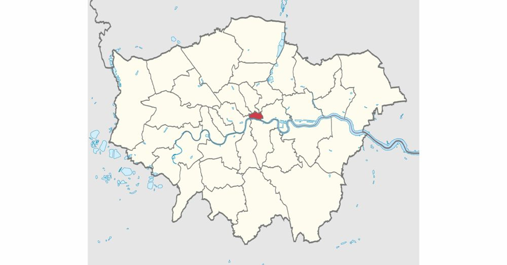City of London (red) inside Greater London. Image: Wikipedia.