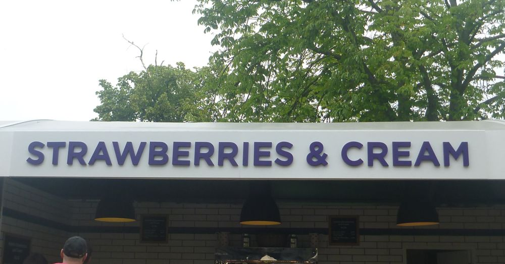 There are whole shops at Wimbledon that sell nothing but strawberries and cream.