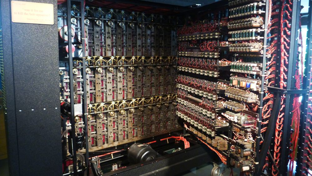 Internal workings of the Bombe Machine.
