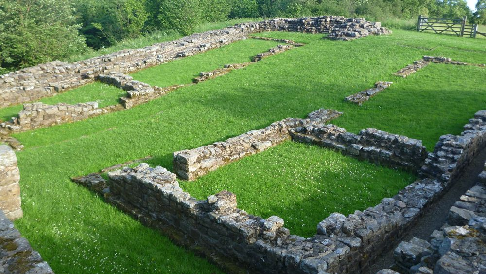 Remnants of the Poltross Burn milecastle.