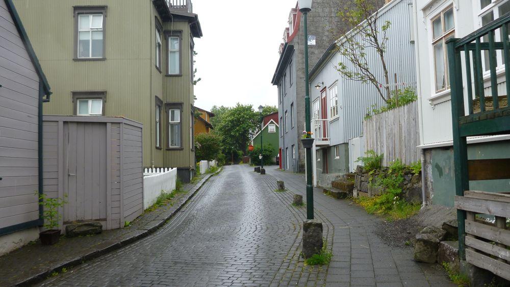 A representative Reykjavik street.