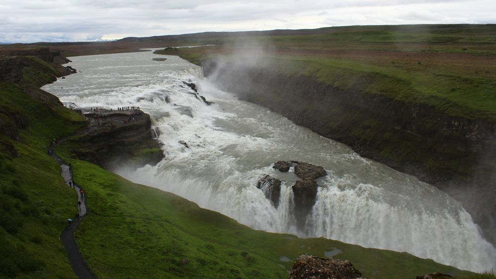 Gullfoss from above.