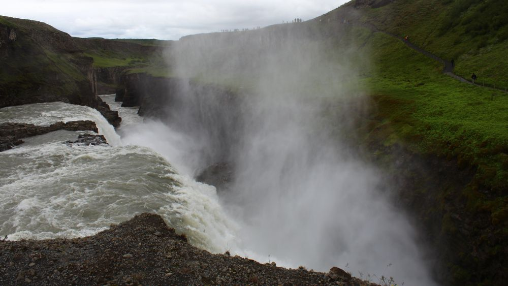 Up close and personal with Gullfoss.