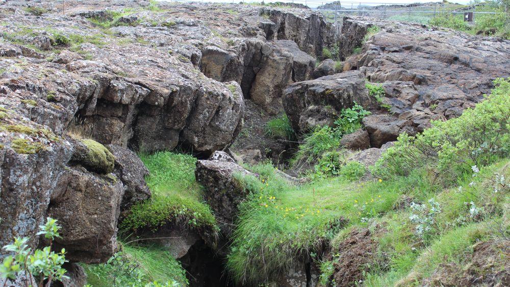 A telling crevice at Þingvellir