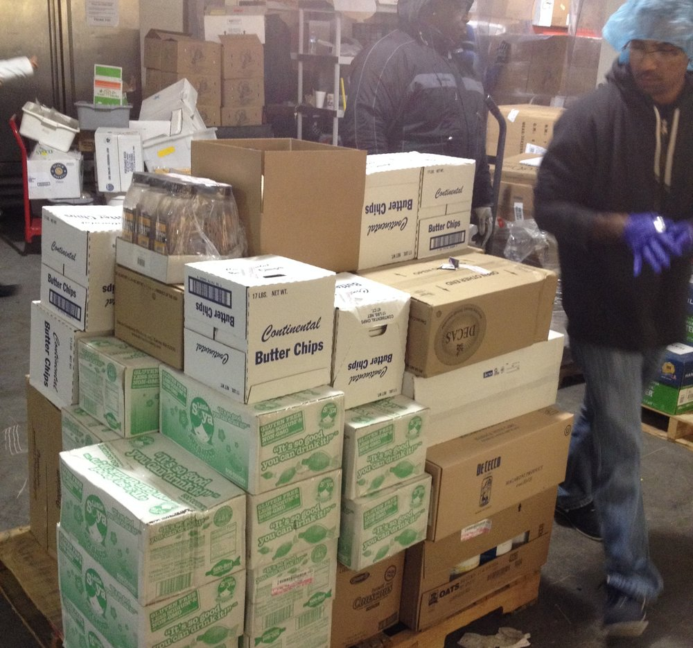 Photo of shipment ready to be processed by receiving clerk