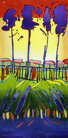 Purple Orchard 2			48x24				$3,800.00