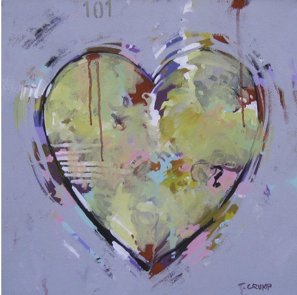 "HEART #101 by T. Crump 22""x22"""