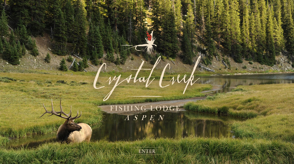 Crystal Creek Fishing Lodge; Website Landing Page Concept
