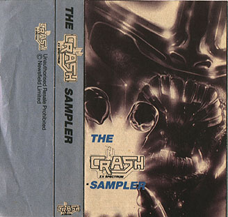Many early cover cassettes, such as the Crash Sampler,  had a cut out inlay inside the magazine