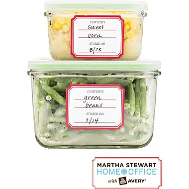 Oh, Martha. Yes, I totally worship Ms. Stewart. Keep a packet of blank labels around for fuss-free storing.