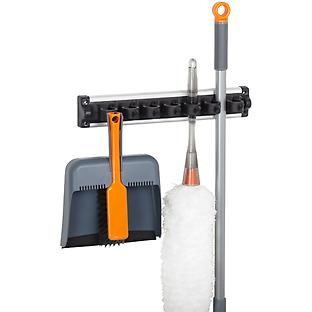 This holder/hook offers a two-in-one solution for your utilities. Brooms, dusters, etc. Every home should have one (or three)