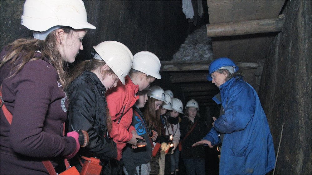 A school trip down the mine at Killhope