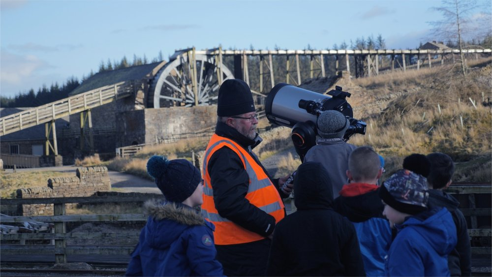 Sunderland Astronomical Society introduce the schoolchildren to the wonders of the North Pennines' dark skies.