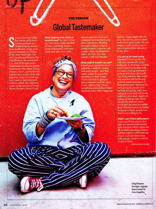 "Susan Feniger featured as ""Global Tastemaker"" in National Geographic"