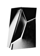 "Black White 1, Back, 40  ""  W x 53  ""  H x 11  ""  D, Photo Construction, C Print, 1982"