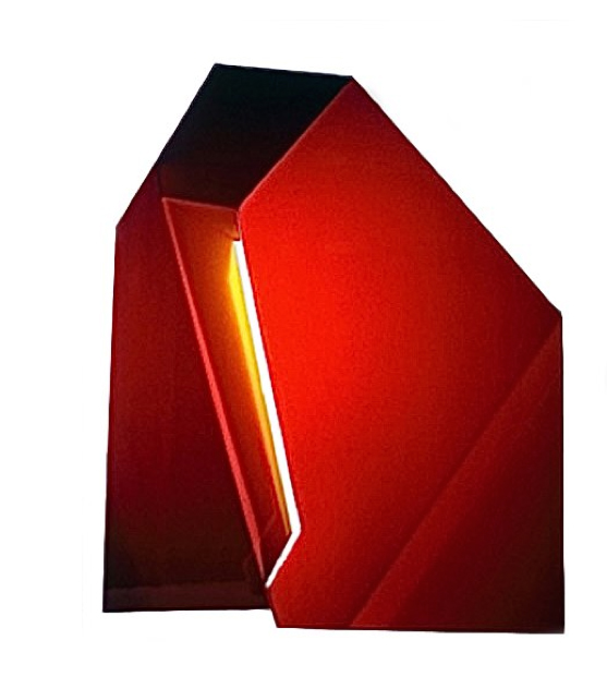 "Red Yellow 10, 24  ""  W x 29  ""  H x 5  ""  D, Photo Construction, Cibachrome Print, 1982"