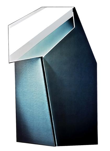 "Gray Green, White, Back, 16  ""  W x 20  ""  H x 3  ""  D, Photo Construction, C Print, 1982"