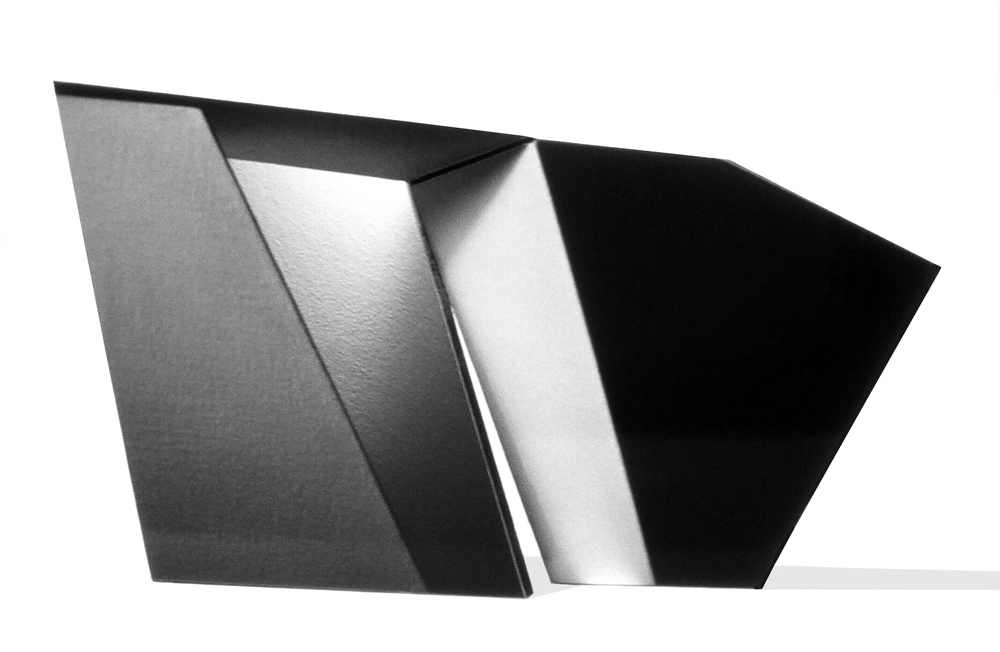 "Gray Black 1, 12  ""  W x 8  ""  H x 2 1/2  ""  D, Photo Construction, C Print, 1982"