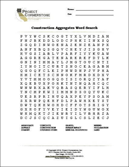 Word Search (1 Page), Download Key