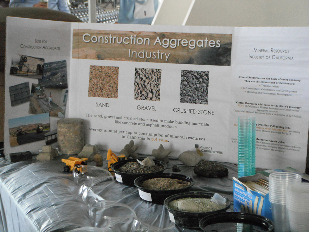 Informational display at the Project Cornerstone booth.