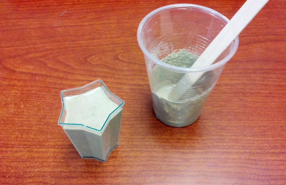 Concrete and star mold.