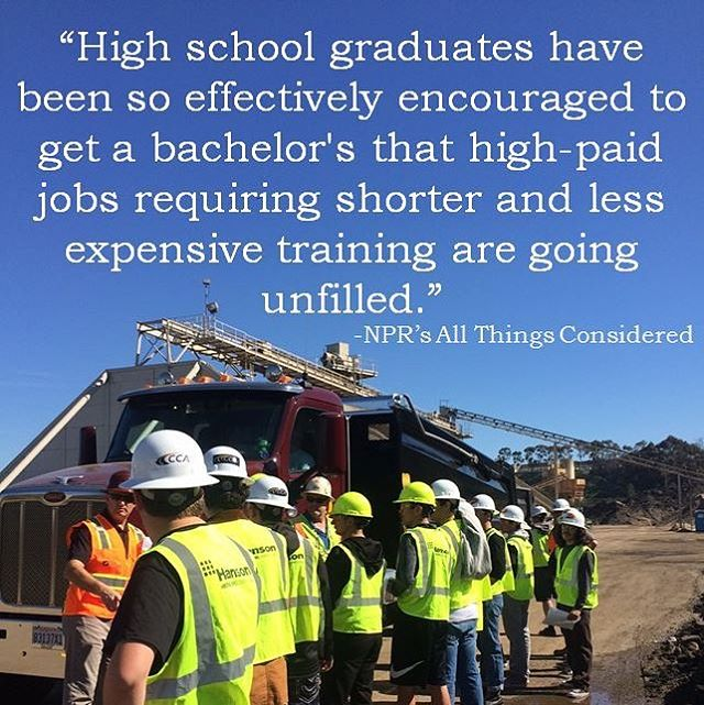 An excerpt from NPR's All Things Considered segment on the labor shortage. #educationmatters #careeropportunities #construction #projectcornerstoneSD #stem #NGSS #CTE #sandiego #stemeducation