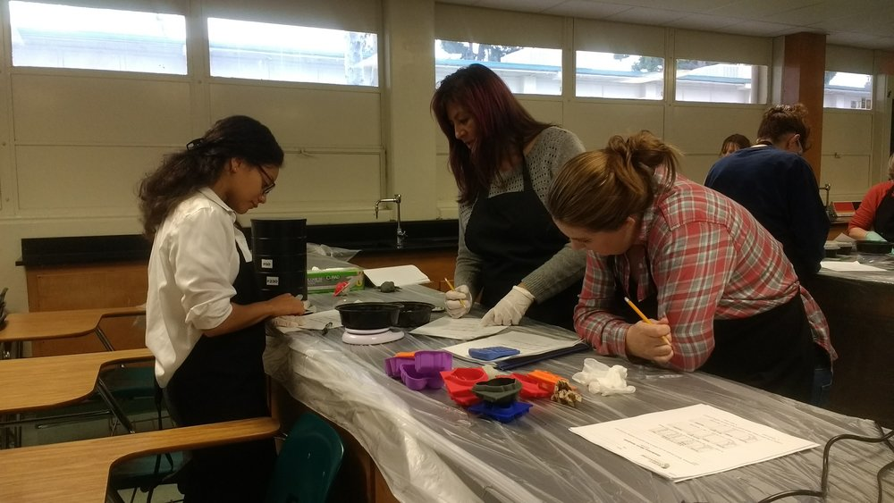 Teacher's learn about the science of concrete at Project Cornerstone's Los Angeles/Orange County Teacher Workshop