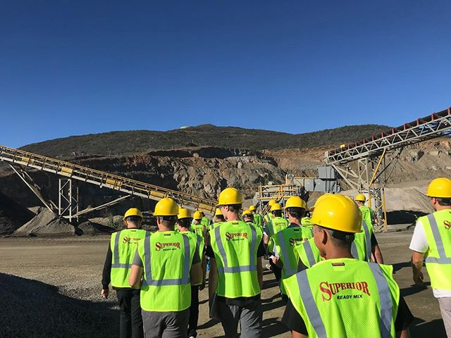 Field trip with San Marcos High School at #SuperiorReadyMix Twin Oaks Quarry!! #concrete #aggregates #construction