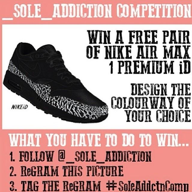 C O M P E T I T I O N  T I M E / G O O D  L U C K #SoleAddctnComp #instagram #instakicks #sneaker #sneakers #kick kicks @_sole_addiction #soleaddiction #kicksoftheday #igsneakercommunity #ignikecommunity #competition #airmax #airmax1 #nikeair #nikeairmax #nikeairmax1
