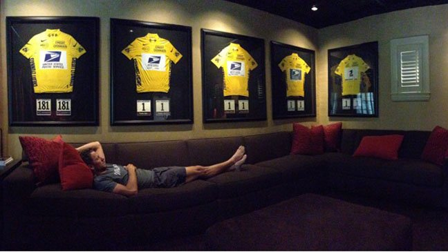 Lounge Lizard - Lance Armstrong with his stolen goods...