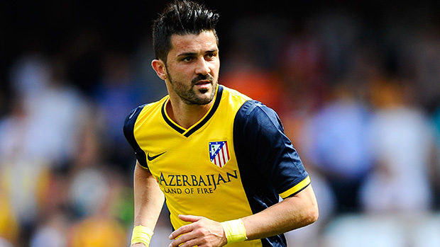 In The City. Marquee man David Villa.