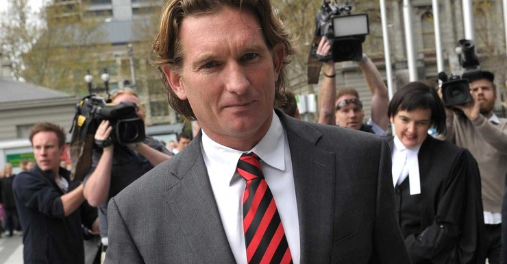 Reality Bites - James Hird arrives to hear the verdict.
