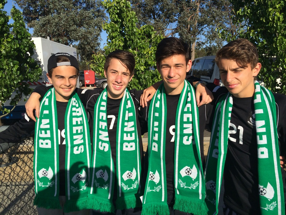 Bentleigh Greens Under 14's represet!