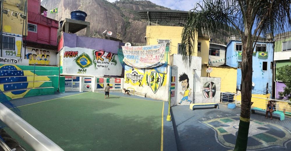 Football in Rochina Fevala, Rio De Janeiro.