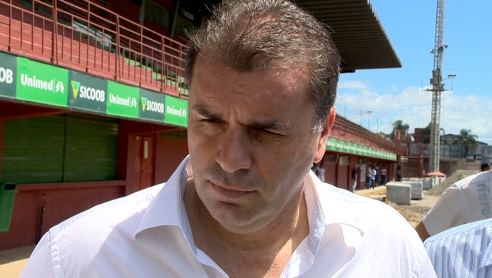 Our man in Bishkek.. Ange Postecoglou plans the route to Russia.