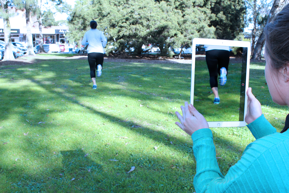 Podiatrist Sophie Jennings performs a running Gait Analysis using the latest video technology