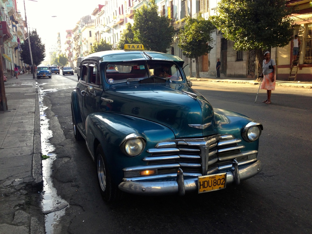 Getting around is most of the fun in Havana. It could be a 1950's taxi or a rickshaw or something in between.