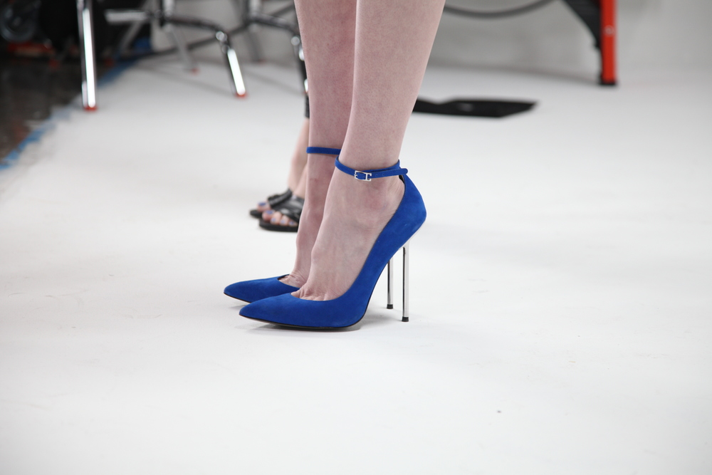More blue with a killer heel by Monika Chiang