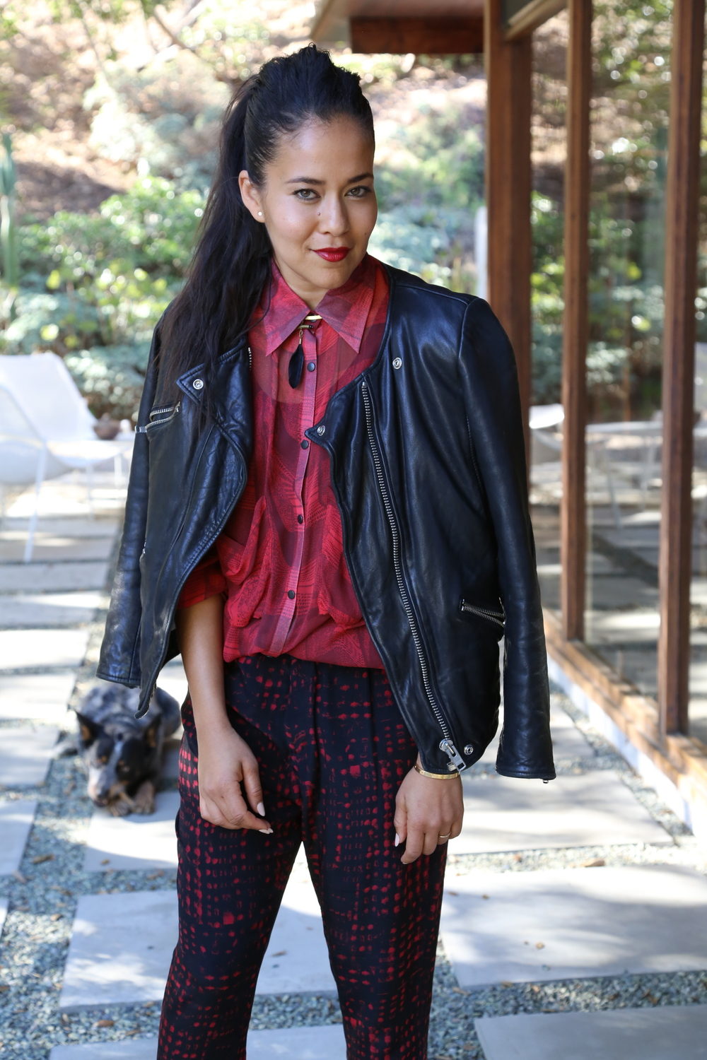 isabel-marant-moto-lether-jacket-red-print-pants-los-angeles.jpg