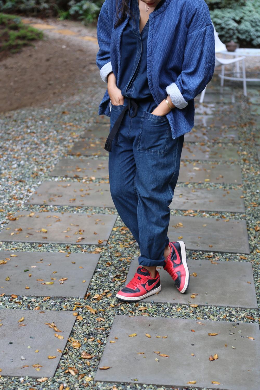isabel-marant-jumpsuit-indigo-denim-nike-dunk-red-robe-kimono-quilted-coat-los-angeles.jpg